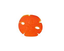 Tangerine Recycled Glass Sand Dollar 20mm
