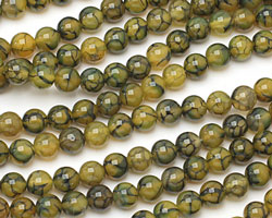 Olive Fire Agate Round 8mm