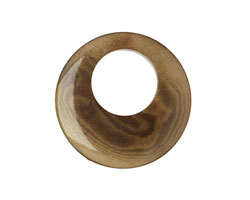 Tagua Nut Olive Gypsy Hoop 25mm