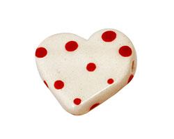 Jangles Ceramic White Small Heart 27-28mm