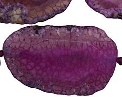 Purple Agate Natural Edge Freeform Faceted Slab 40-58x24-33mm