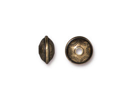 TierraCast Antique Brass (plated) Western Bead 6x10mm