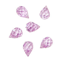 Lilac Faceted Teardrop 6x9mm