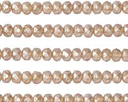Czech Glass Peach w/ Mercury Finish Rondelle 3x5mm