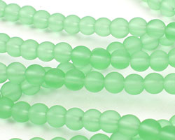 Peridot Recycled Glass Round 6mm