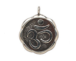 Saki White Bronze Ohm Pendant 27mm