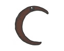 The Lipstick Ranch Rusted Iron Crescent Moon 38x50mm