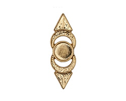Zola Elements Matte Gold (plated) Pointed Bezel Concho 12x35.5mm
