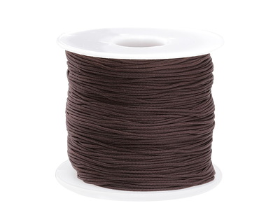 Espresso Chinese Knotting Cord 0.8mm, 120 yard spool