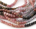 Tourmaline Faceted Rondelle 4mm