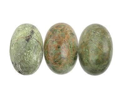 Dendritic Green Jade Rondelle 19-20x30-31mm