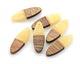 Walnut Wood & Butter Resin Oval Focal 10x28mm