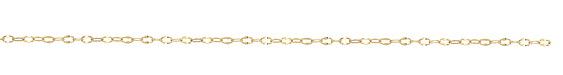 Hamilton Gold (plated) Half Flat Delicate Cable Chain