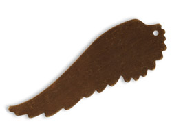 Vintaj Natural Brass Feathered Wing Altered Blank 18x52mm