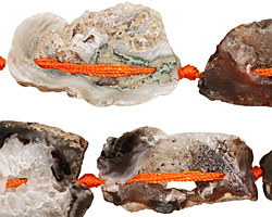 Druzy Agate Sliced Pieces Graduated 21-69x14-41mm