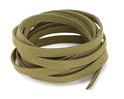Olive Microsuede Flat Cord 7mm