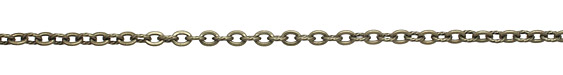 Antique Brass (plated) Flat & Twisted Cable Chain