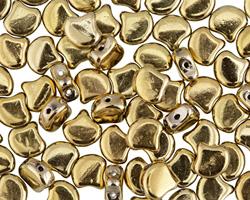 Polished Brass Matubo Ginkgo Leaf 7.5mm Seed Bead