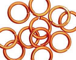 Orange Anodized Aluminum Jump Ring 14mm, 14 gauge (9.6mm inside diameter)