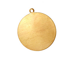 Brass Large Circle Blank Pendant 25x28mm