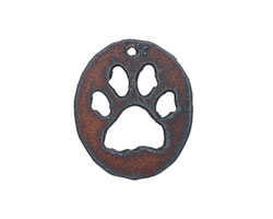 The Lipstick Ranch Rusted Iron Paw Oval 30x35mm