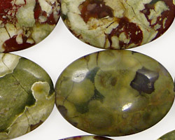 Rhyolite Flat Oval 30x20mm