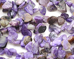 Charoite Polished Pebble Drop 8-10x8-16mm