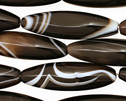 Black Sardonyx Rice 35-36x10-11mm