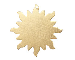 Brass Dancing Sun Blank 32mm
