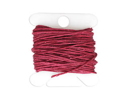 Magenta Irish Waxed Linen 4 ply