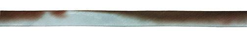 "Chocolate Sky Hand Dyed 100% Silk Ribbon 7/16"""