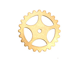 Brass Large Sectioned Gear 25mm