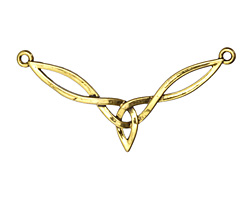 Zola Elements Antique Gold (plated) Celtic KnotFocal Link 40x21mm