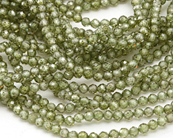 Fern Cubic Zirconia Faceted Round 3mm