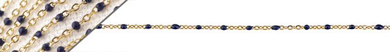 Gold (plated) Stainless Steel Navy Small Cable Chain