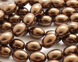 Chocolate Shell Pearl Rice 11x8mm