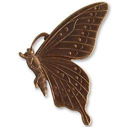 Vintaj Natural Brass Butterfly Profile 46mm