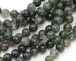 Moss Agate Round 8mm