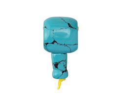 Turquoise (syn.) Barrel Guru Bead 18mm