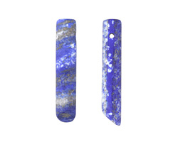 Lapis (matte) Cylindrical Wedge Pendant 9-10x46-50mm