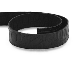 "TierraCast Black Hornback Leather Strap 10"" x 1/2"""