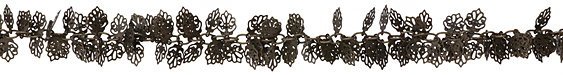 Antique Brass (plated) Oak Leaf Chain