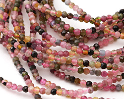 Tourmaline Faceted Rondelle 2mm