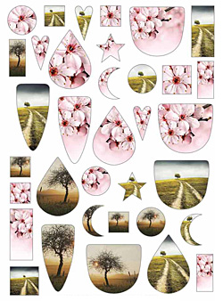 Nunn Design Color Trees Collage Sheet