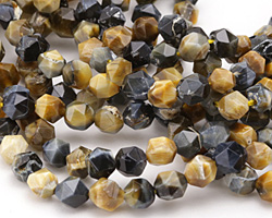 Blue Tiger Eye Star Cut 6mm