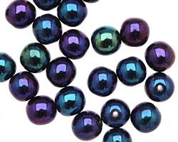 Czech Glass Iris Blue Round 8mm