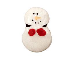 Jangles Ceramic Small Snowman 19-22x28-31mm