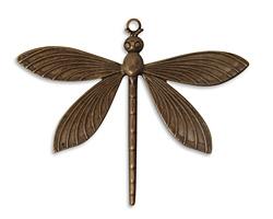 Vintaj Natural Brass Dragonfly Pendant 63x51mm