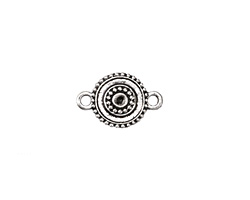 Zola Elements Antique Silver (plated) Shield Link 19x12mm