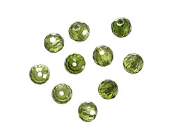 Fern Faceted Round 6mm